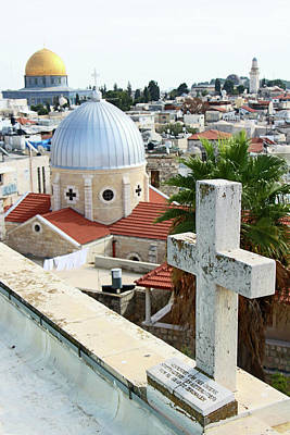 Photograph - Domes And Cross by Munir Alawi