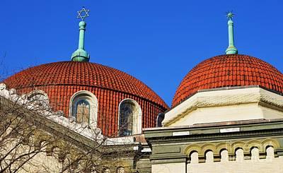 Magen David Photograph - Domes At Sixth And I Synagogue, Washington by Poet's Eye