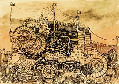 Dominance Art Print by Anna Deligianni