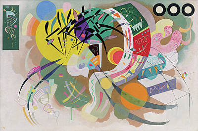 Expressionist Painting - Dominant Curve by Wassily Kandinsky
