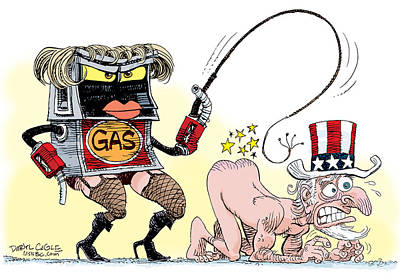 Drawing - Dominating Gas Prices by Daryl Cagle