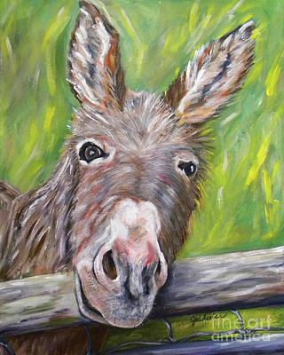 Painting - Dominic The Donkey by JoAnn Wheeler