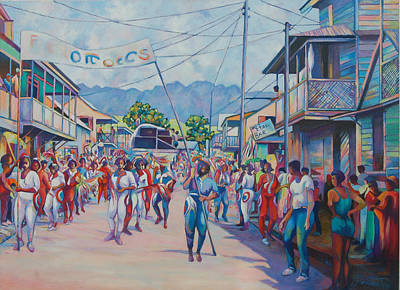 Painting - Dominica Carnival by Glenford John