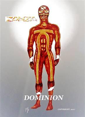 Comics Mixed Media - Dominion by Benny Jones Jr