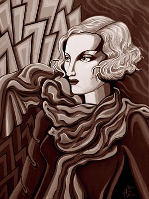 Dominique In Sepia Tone Art Print by Tara Hutton