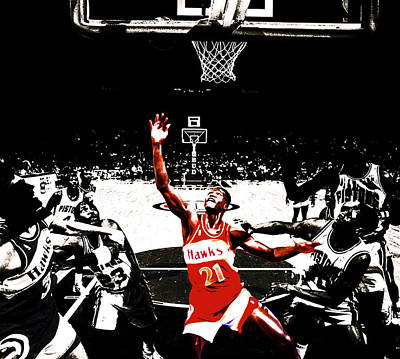 Dominique Wilkins In  The Paint Art Print