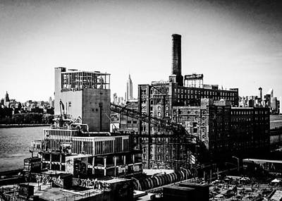 Greenpoint Photograph - Domino Skyline by Mike Rose