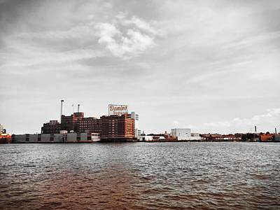 Photograph - Domino Sugar by Chris Montcalmo