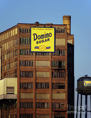 Photograph - Domino Sugar Plant And Water Tower by Rick Bures
