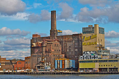 Domino Sugar Water View Art Print by Alice Gipson