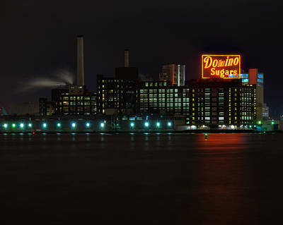 Domino Sugars Wide Art Print by Mark Dodd