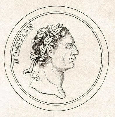 Flavius Drawing - Domitian Titus Flavius Domitianus 51ad by Vintage Design Pics