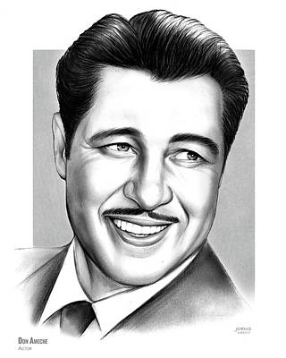 Drawing - Don Ameche by Greg Joens