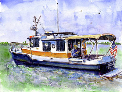 Painting - Don And Kathys Boat by John D Benson