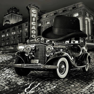 Anthropomorphic Digital Art - Don Cadillacchio Black And White by Marian Voicu