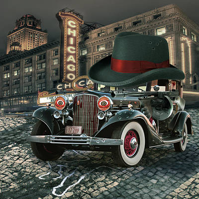 Street Digital Art - Don Cadillacchio by Marian Voicu