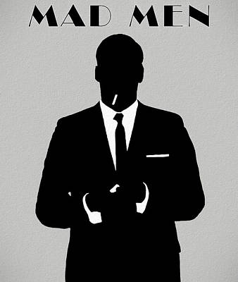 Mixed Media - Don Draper Mad Men Silhouette by Dan Sproul