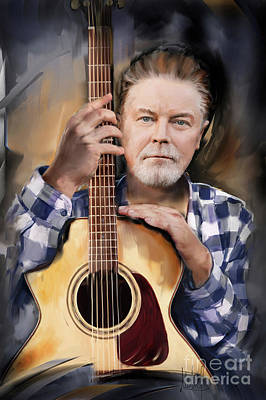 Music Mixed Media - Don Henley by Melanie D
