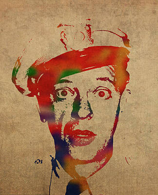 Don Knotts Mixed Media - Don Knotts Barney Fife Watercolor Portrait by Design Turnpike