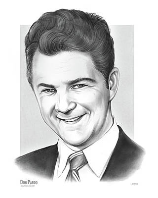 Drawing - Don Pardo by Greg Joens