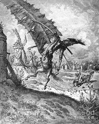 Novel Photograph - Don Quixote And Windmill by Granger