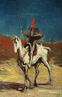 Don Quijote Painting - Don Quixote by Honore Daumier