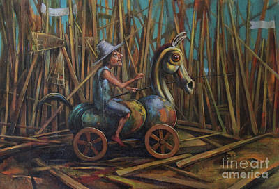 Puerto Rico Painting - Don Quixote II by Michal Kwarciak