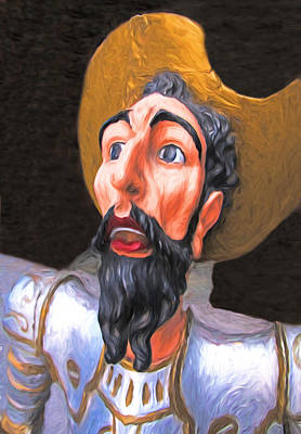 Digital Art - Don Quixote Portrait by Dennis Cox