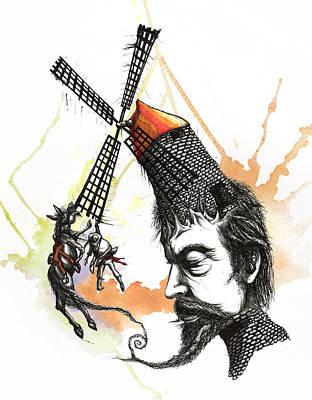 Don Quixote's Wild Ride Art Print