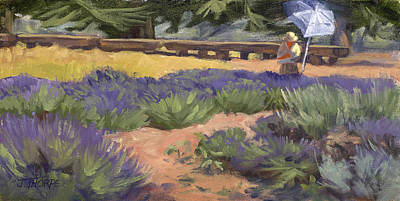Painting - Don Read Painting Lavender by Jane Thorpe