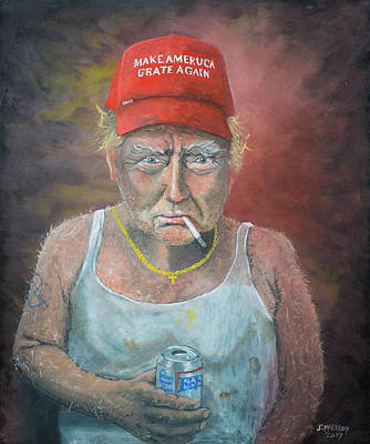 Politics Painting - Don The Con by Jerry McElroy