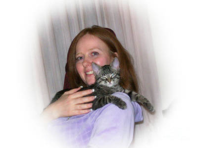 Digital Art - Dona And Cat by Donna L Munro