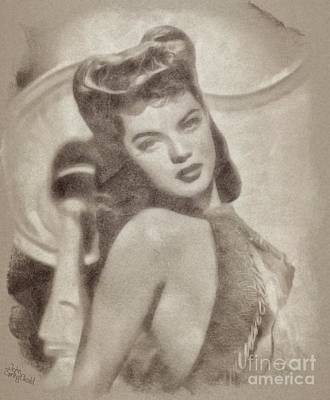 Musicians Drawings Rights Managed Images - Dona Drake, Hollywood Actress and Singer Royalty-Free Image by Esoterica Art Agency