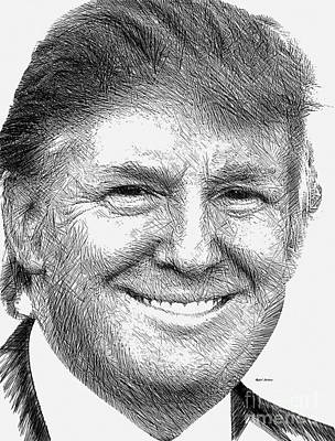 Digital Art - Donald J.trump by Rafael Salazar