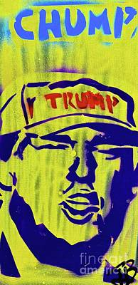 Liberal Painting - Donald Chump by Tony B Conscious