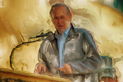 Dick Cheney Painting - Donald Rumsfeld by Brian Reaves