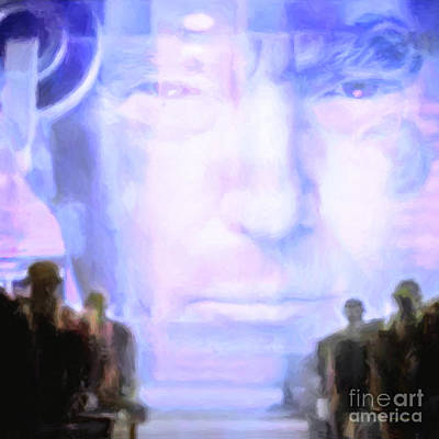 Print featuring the photograph Donald Trump 1984 Square by Wingsdomain Art and Photography