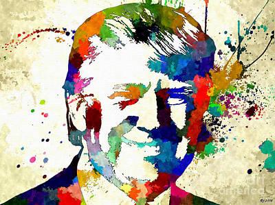 Statesman Mixed Media - Donald Trump Grunge by Daniel Janda