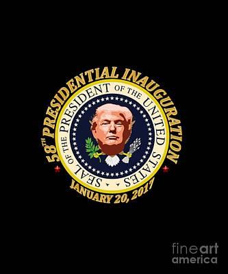 Inauguration Day Digital Art - Donald Trump Inauguration Day by Kady