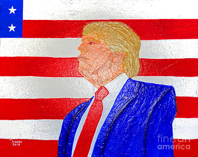 Moore Painting - Donald Trump by Michael Moore