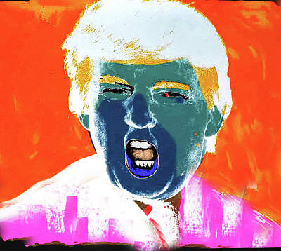 Mixed Media - Donald Trump Nixo,nixo by Nicholas Nixo