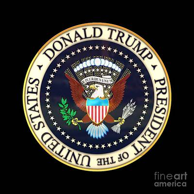 Donald Trump President Seal Art Print