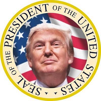 Inauguration Digital Art - Donald Trump Us President United States Seal  by SMart