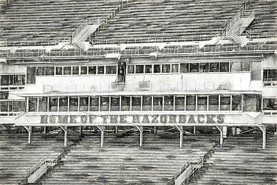 Photograph - Donald W. Reynolds Razorback Stadium by JC Findley