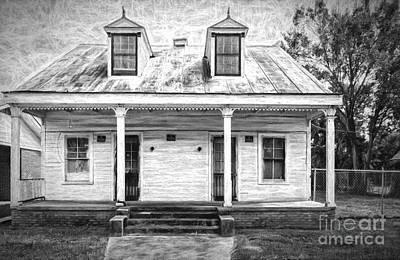 Photograph - Donaldsonville Historic House- Bw Art by Kathleen K Parker