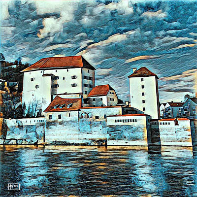 Digital Art - Donau, Passau, Germany by Jim Pavelle