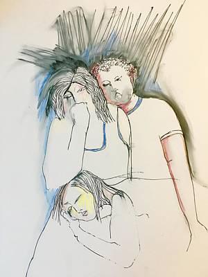 Wall Art - Drawing - Donde Estan Los Ninos? 3  by Rosalinde Reece