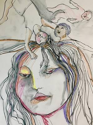 Wall Art - Drawing - Donde Estan Los Ninos? 4  by Rosalinde Reece