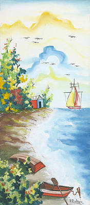 Herold Alvares Painting - Done For The Day by Herold Alvares