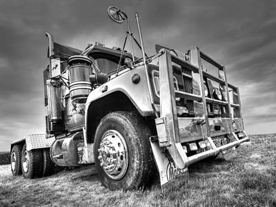 Photograph - Done Hauling - Black And White by Gill Billington